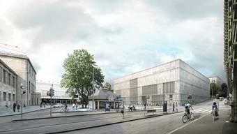 Der Erweiterungsbau des Zürcher Kunstmuseums soll voraussichtilich 2020 seine Türen öffnen.