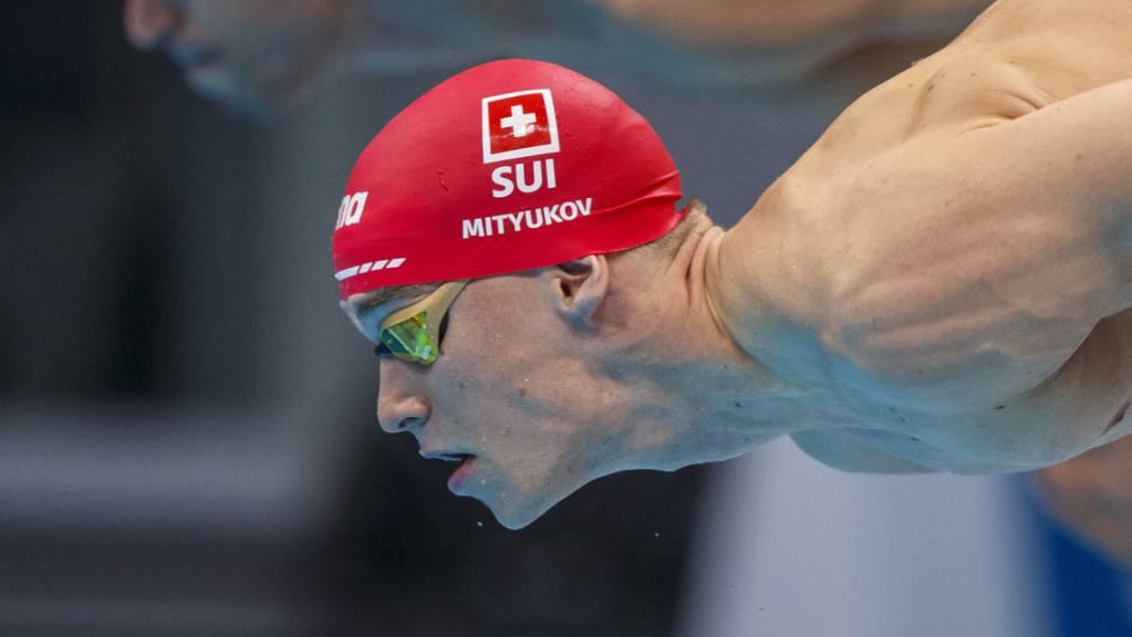 Roman Mityukov schonte sich im 100-m-Crawl-Halbfinal wohl schon für den historischen Staffel-Final 100 Minuten später