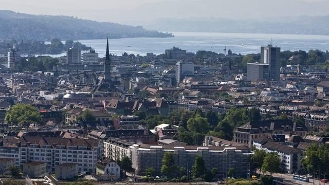 Blick auf die Stadt Zürich. (Archiv)