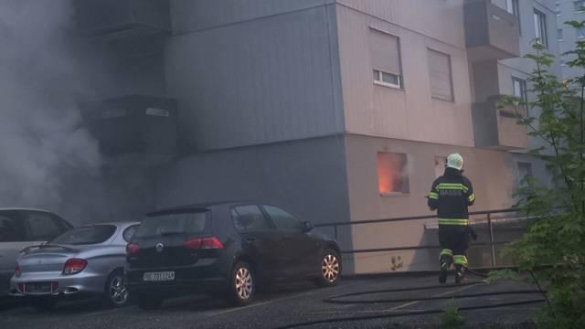 Hochhaus-Brand bei Biel