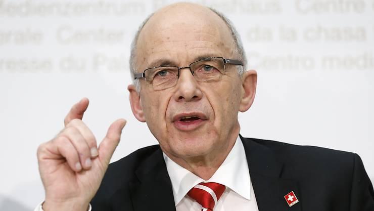 Ueli Maurer ist Finanzminister und damit auch für das Grenzwachtkorps zuständig. (Archiv)