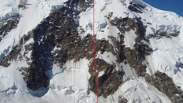 Zwei Bergsteiger stürzten aus noch unbekannten Gründen am Liskamm bei Zermatt 900 Meter in die Tiefe und starben.