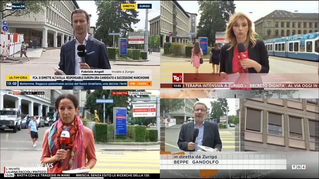 Italienische Journalisten belagern Uni-Spital