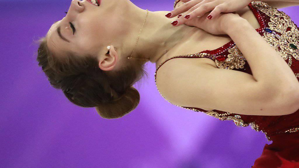 Alexia Paganini fiel in der Kür vom 19. auf den 21. Platz zurück