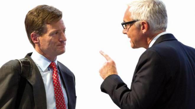 CS-CEO Brady Dougan (links), VR-Präsident Urs Rohner. Foto: Keystone
