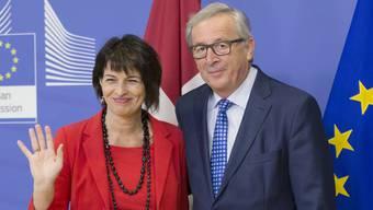 Doris Leuthard trifft Jean-Claude Juncker in Brüssel