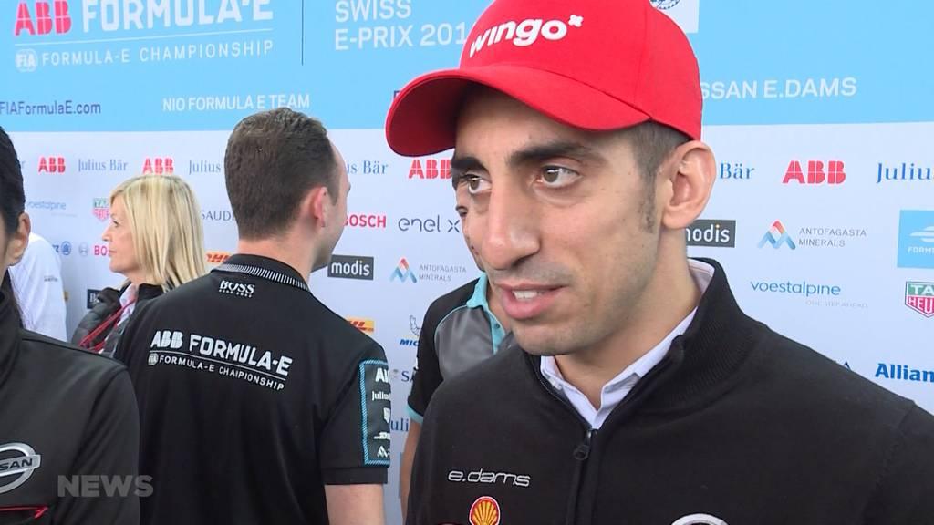 Formel-E-Fahrer bereiten sich auf die anspruchsvolle Strecke vor