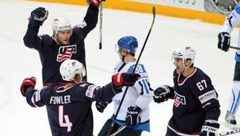 Die USA feiern Sieg gegen WM-Gastgeber Finnland.