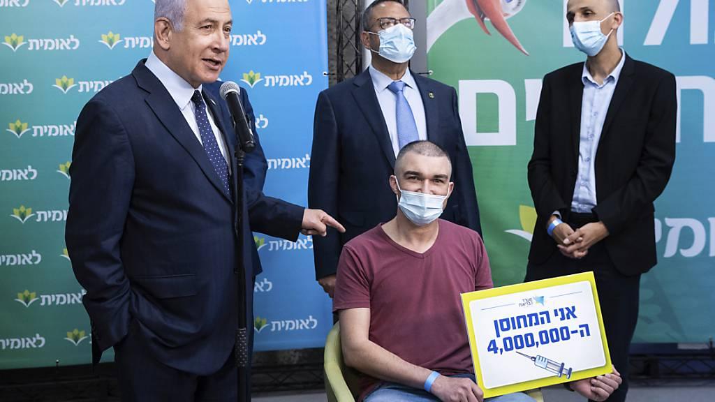 Israel verzeichnet vier Millionen Corona-Erstimpfungen