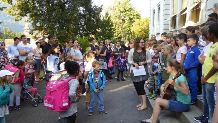 Der 1. Schultag in Balsthal.