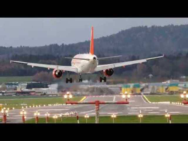 Landungen bei Windböen von bis zu 85 km/h am Flughafen Zürich