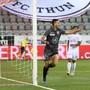 Simone Rapp nach seinem Führungstor für Thun gegen den FC Zürich