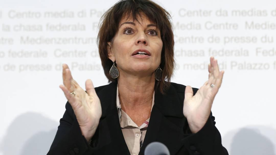 Doris Leuthard: «Atomausstiegsinitiative schafft grosse Probleme»