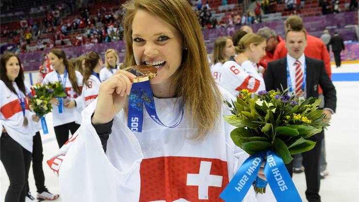 Die Oberengstringerin Florence Schelling wurde zur wertvollsten Spielerin des Eishockeyturniers an den Olympischen Winterspielen 2014 in Sotschi gewählt.