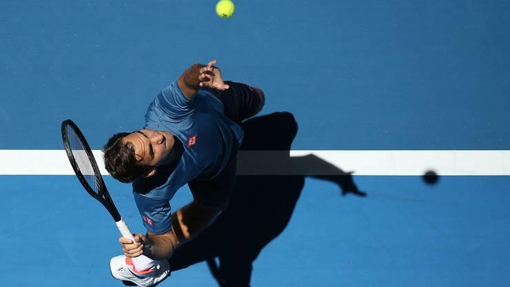 Roger Federer strebt bei den Australian Open seinen siebten Titel an.