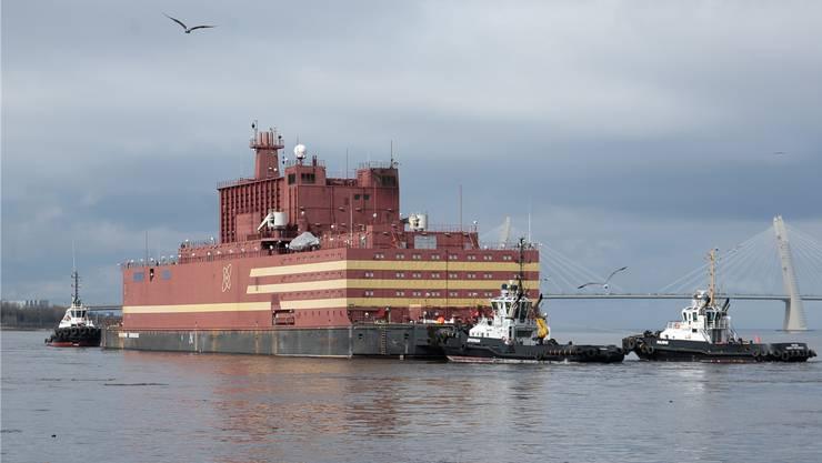 Die russische «Akademik Lomonosov»: ein schwimmender Reaktor.