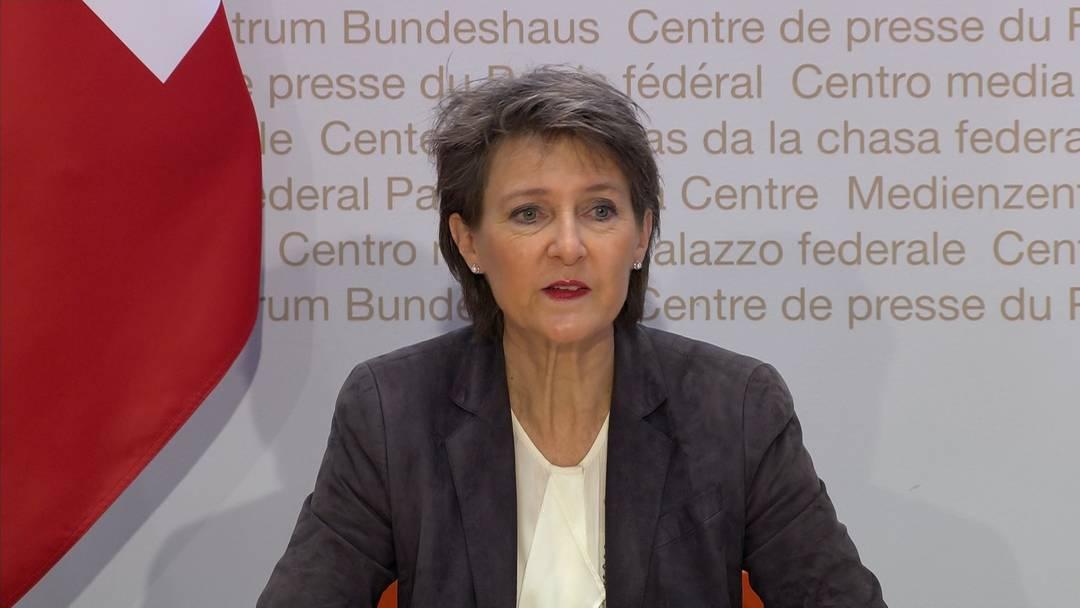 Restaurants sowie Kultur-, Freizeit- und Sportbetriebe werden geschlossen - die wichtigsten Aussagen von Bundespräsidentin Simonetta Sommaruga an der Medienkonferenz vom 18.12.2020