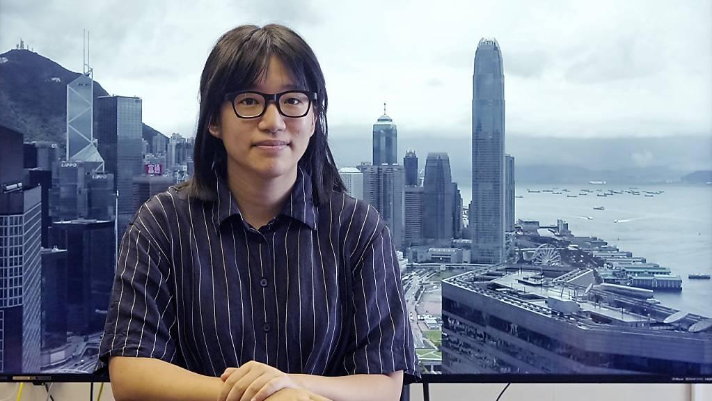 Chow Hang-Tung, die Vizevorsitzende der Allianz zur Unterstützung der patriotischen demokratischen Bewegungen in China, am 24. Mai 2021.