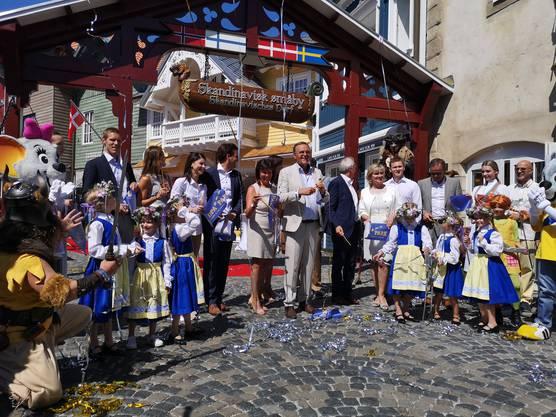 Die offizielle Eröffnung des Themenbereichs Skandinavien am Dienstagmittag in Rust.