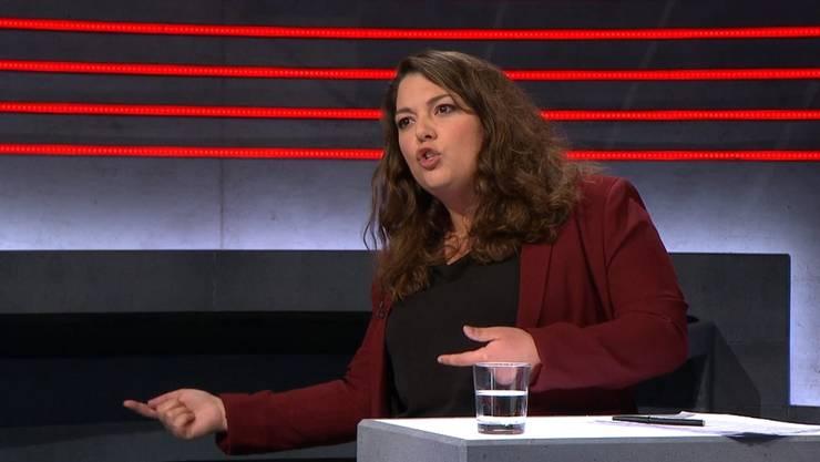 """Tamara Funiciello in der """"Arena""""."""