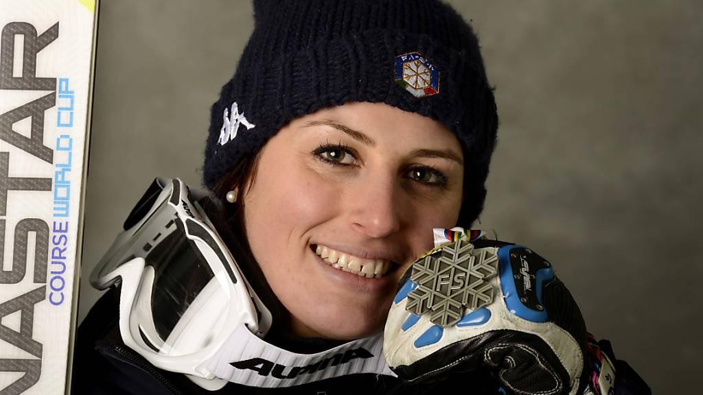 Nadia Fanchini gewann an der WM in Schladming 2013 Silber in der Abfahrt