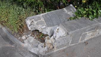 22. September: Gartenmauer in Zuchwil wird durch unbekannten beschädigt