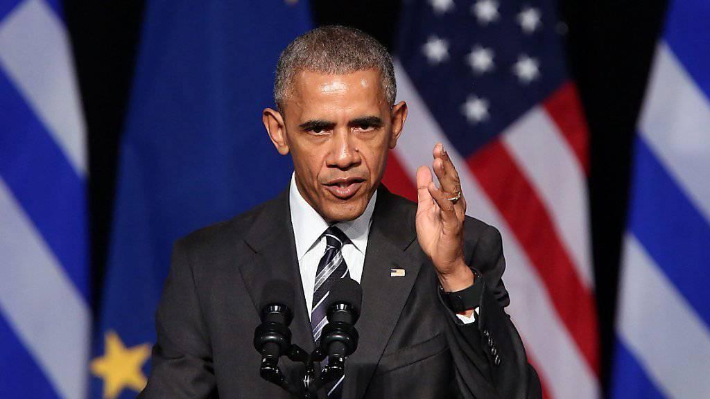 US Präsident Barack Obama sprach sich in seiner Rede in Athen gegen die Abschottung und für die europäische Integration aus.