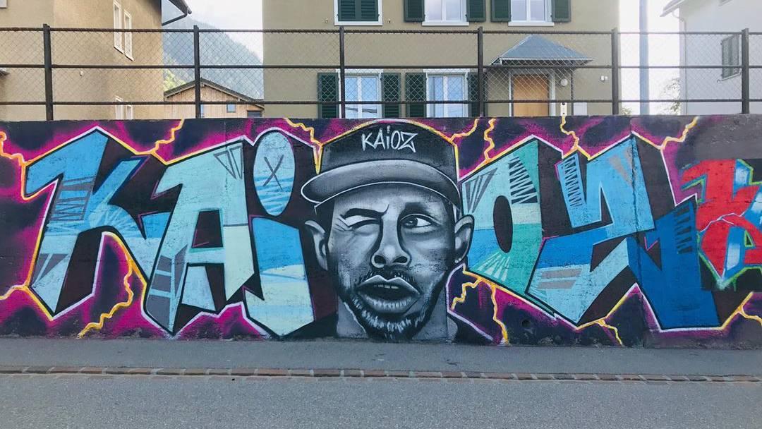 Die Graffitis an der Unteren Plessurstrasse sind ganz legal.