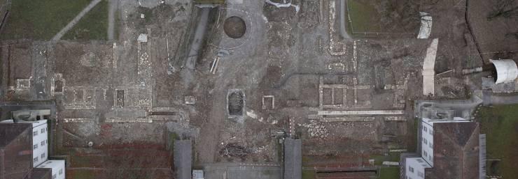 Die Ruinen der alten Klinik Königsfelden, freigelegt nach Grabungsende.