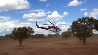 Ein Rettungshelikopter im australischen Busch. (Symbolbild)