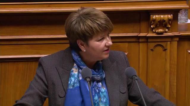 Viola Amherd: «Ich erkläre hiermit Annahme der Wahl»