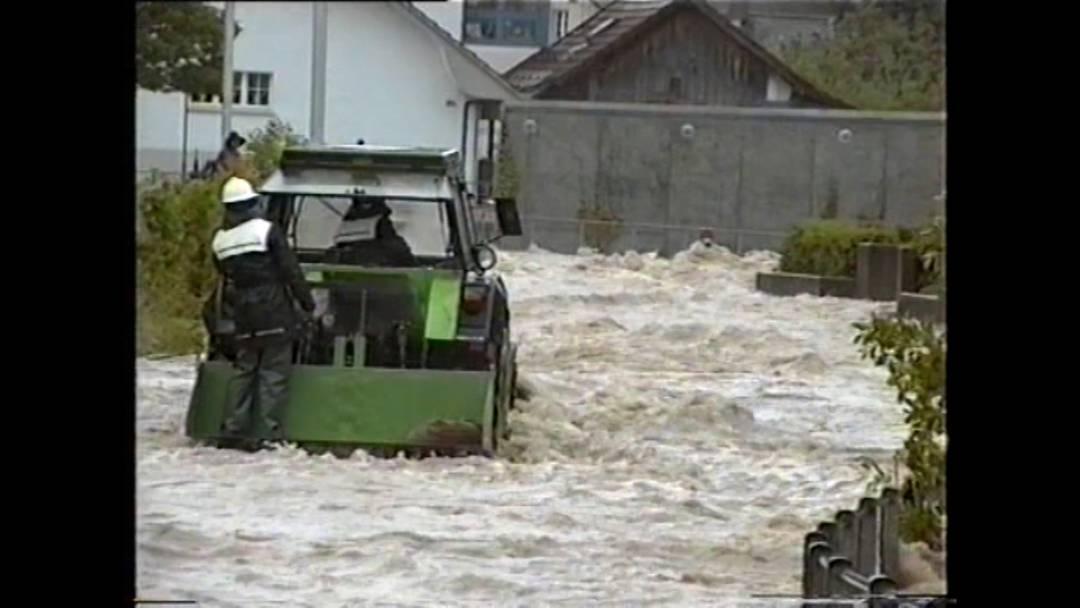 Überschwemmungen vom 19. Mai 1994: Videoaufnahmen des verstorbenen ehemaligen Oberkulmer Feuerwehrkommandanten Ernst Beck