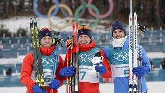 Die Langläufer sind die Aushängeschilder des norwegischen Sports: Bei Olympia holten Krueger (Mitte), Sundby (links) und Holund alle Medaillen im Skiathlon.