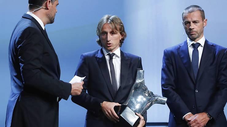 Kleiner Mann ganz gross: Luka Modric ist Europas Fussballer des Jahres.