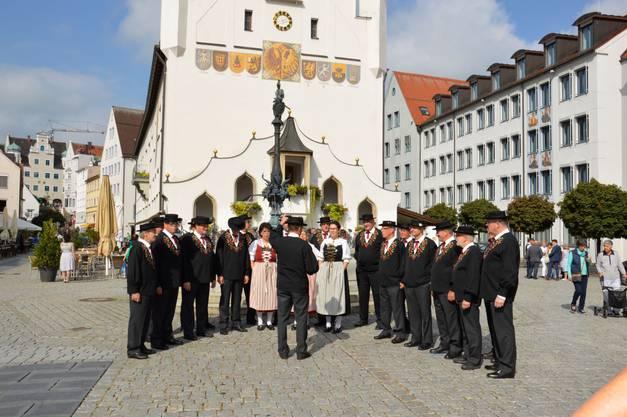 Auftritt vor dem Rathaus, Kempten
