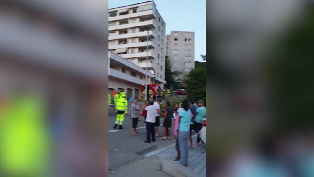Brand in einem Mehrfamilienhaus in Döttingen