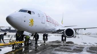 Eine Boeing 737 Max 8 der äthiopischen Fluggesellschaft Ethiopian Airlines stürzte im März ab.