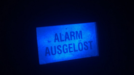 Es wurde ein Alarm ausgelöst.