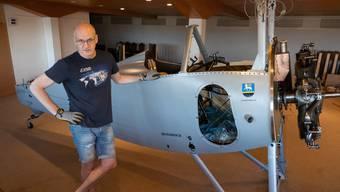 Isidor von Arx mit der «Nieuport 23 C-1 (Juni 2020)