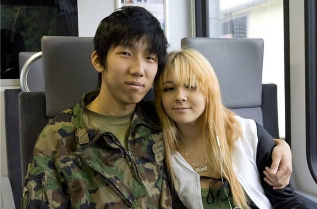 Bowen Wang und seine Freundin Jasmin Singenberger