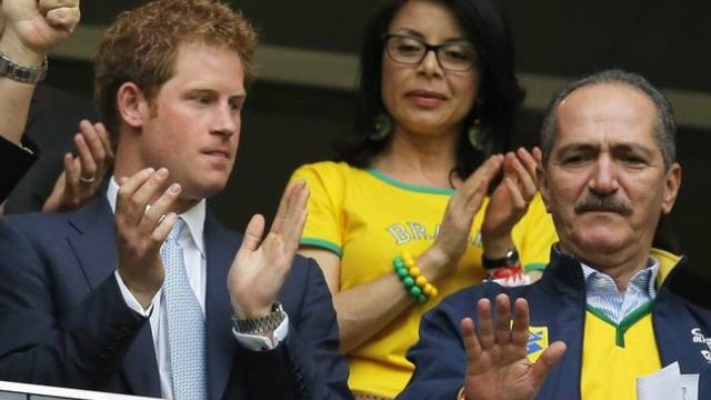 Harry und der brasilianische Sportminister Aldo Rebelo gestern