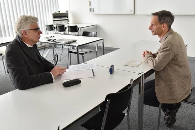 Franz Schaible im Gespräch mit dem bekannten Ökonomen Mathias Binswanger