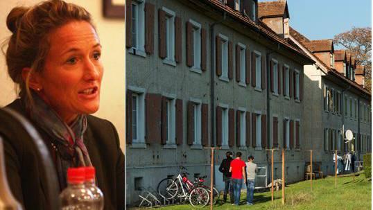 Regierungsrätin Susanne Hochuli stand der Rekinger Bevölkerung Red und Antwort zur Erweiterung der Asylunterkunft.
