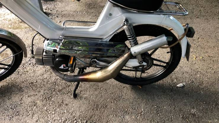 Das Mofa auf 96 km/h frisiert: Der 17-Jährige nahm etliche technische Veränderungen an seinem Zweirad vor.