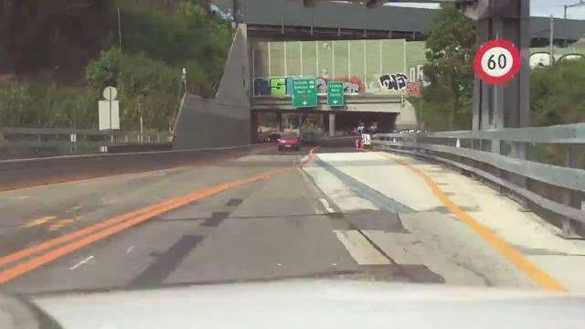 Fahrt durch den Bypass A18-A2