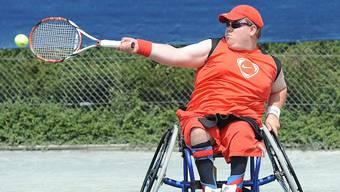 Im Bild Sportler Nico Keller beim Rollstuhltennis. © Alexander Wagner