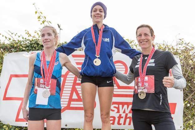Martina Strähl musste sich beim SM-Halbmarathon nur Teamkollegin Nicole Egger geschlagen geben.