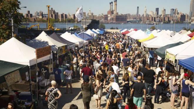 Food Market – bei uns hin und wieder, in Williamsburg jeden Samstag und Sonntag Foto: HO