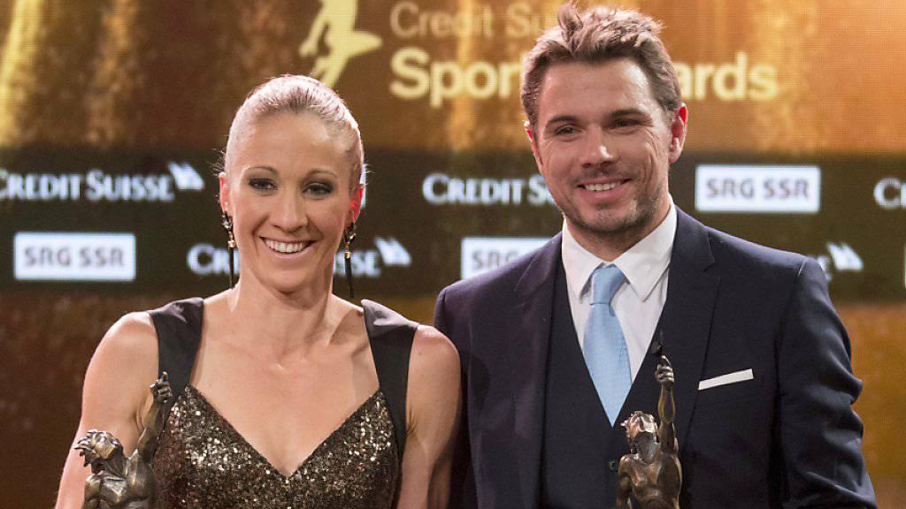 Daniela Ryf und Stanislas Wawrinka sind als Schweizer Sportler des Jahres 2015 ausgezeichnet worden
