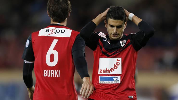 Sandro Burki und der FC Aarau kommen auch unter Schällibaum nicht vom Fleck.